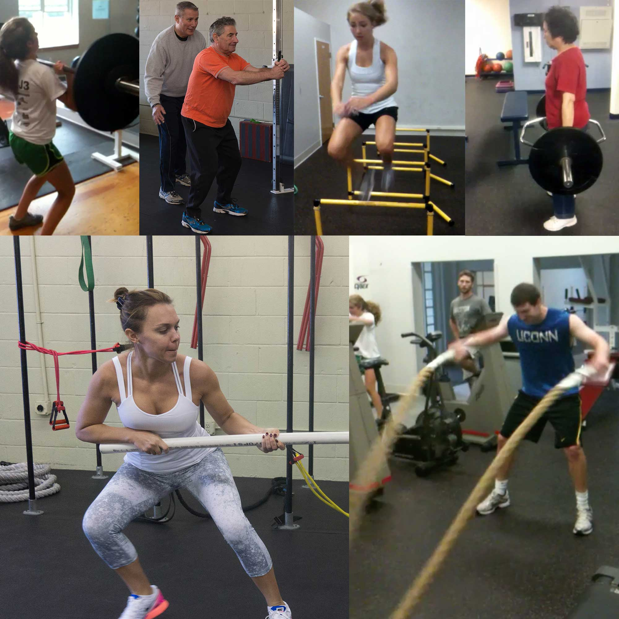 personal training collage